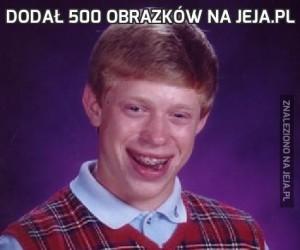 Dodał 500 obrazków na jeja.pl