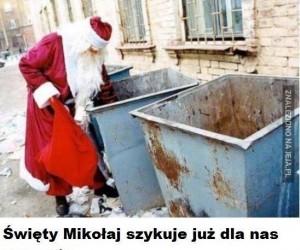 Św. Mikołaj szykuje prezenty ...