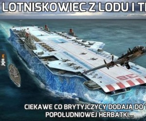 Lotniskowiec z lodu i trocin