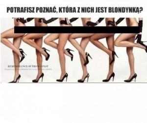 Która z nich jest blondynką?