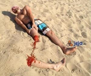 Wypadek na plaży