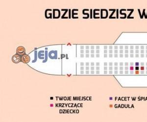 Gdzie siedzisz w samolocie
