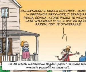 Szczery Bogdan i szambiarka pełna prawdy