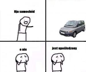 Upośledzony samochód
