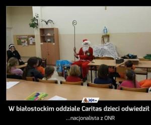 W białostockim oddziale Caritas dzieci odwiedził Mikołaj