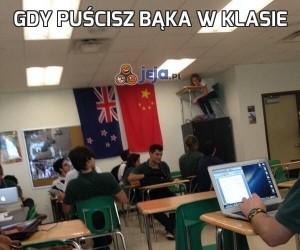 Gdy puścisz bąka w klasie