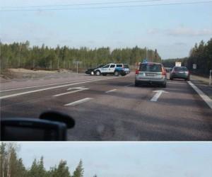 Policyjne Volvo w akcji