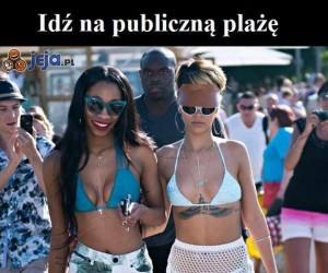 Idź na publiczną plażę