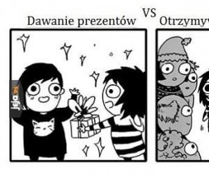 Dawanie vs dostawanie prezentów