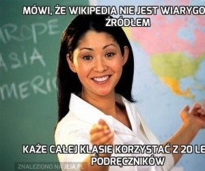 Mówi, że Wikipedia nie jest wiarygodnym źródłem