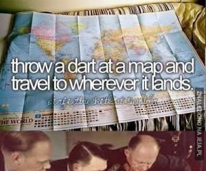 Rzuć lotką w mapę