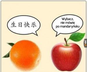Żaden z jabłka poliglota