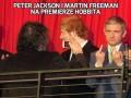 Peter Jackson i Martin Freeman na premierze Hobbita
