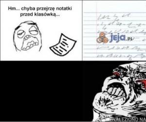 Typowe notatki z lekcji