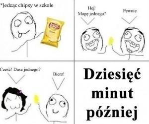 Chipsy w szkole