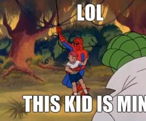 Spiderman, nie porywa się dzieci!