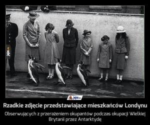 Rzadkie zdjęcie przedstawiające mieszkańców Londynu
