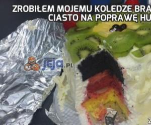 Zrobiłem mojemu koledze Brazylijczykowi ciasto na poprawę humoru