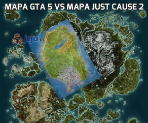 Mapa GTA 5 vs mapa Just Cause 2