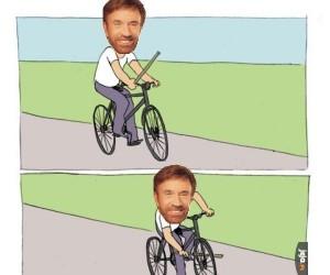 Chuck Norris na rowerze