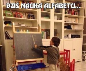 Dziś nauka alfabetu...