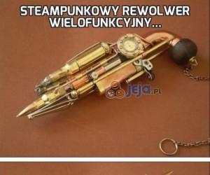 Steampunkowy rewolwer wielofunkcyjny...