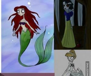 Gdyby księżniczki Disneya miały kreskę Burtona