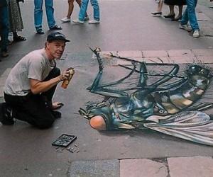 Iluzja na chodniku - Mucha