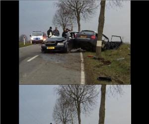 Niezwykły wypadek samochodowy