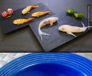Sushi w formie realistycznych rybek