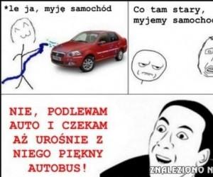 Podlewanie samochodu