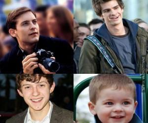 Spiderman coraz młodszy...