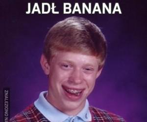 Jadł banana
