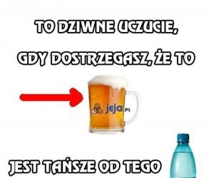 Piwo a woda mineralna