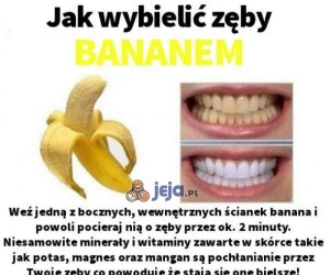 Wybielanie zębów: poziom banan