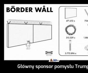 Główny sponsor pomysłu Trumpa