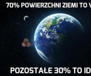 70% powierzchni Ziemi to woda