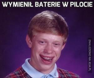 Wymienił baterie w pilocie