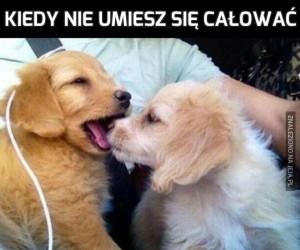 Kiedy nie umiesz się całować