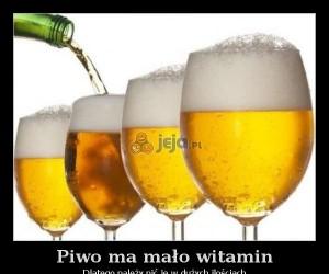 Piwo ma mało witamin