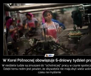 W Korei Północnej obowiązuje 6-dniowy tydzień pracy
