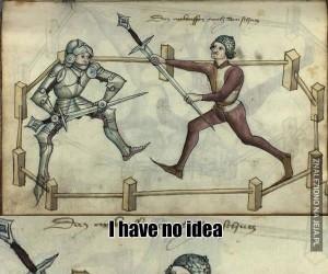 Czo ten miecz?