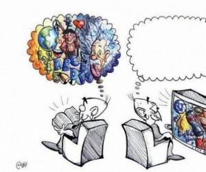 Książka vs telewizor