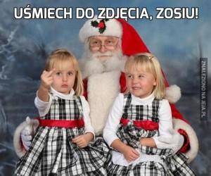Uśmiech do zdjęcia, Zosiu!