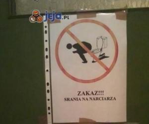 Zakaz srania na narciarza