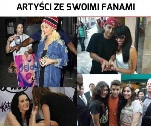 Artyści ze swoimi fanami
