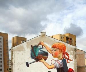 Mural Natalii Rak w Białymstoku