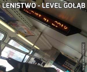 Lenistwo - level gołąb