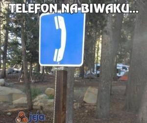 Telefon na biwaku...