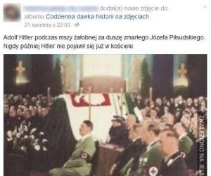 Hitler na pogrzebie Piłsudskiego